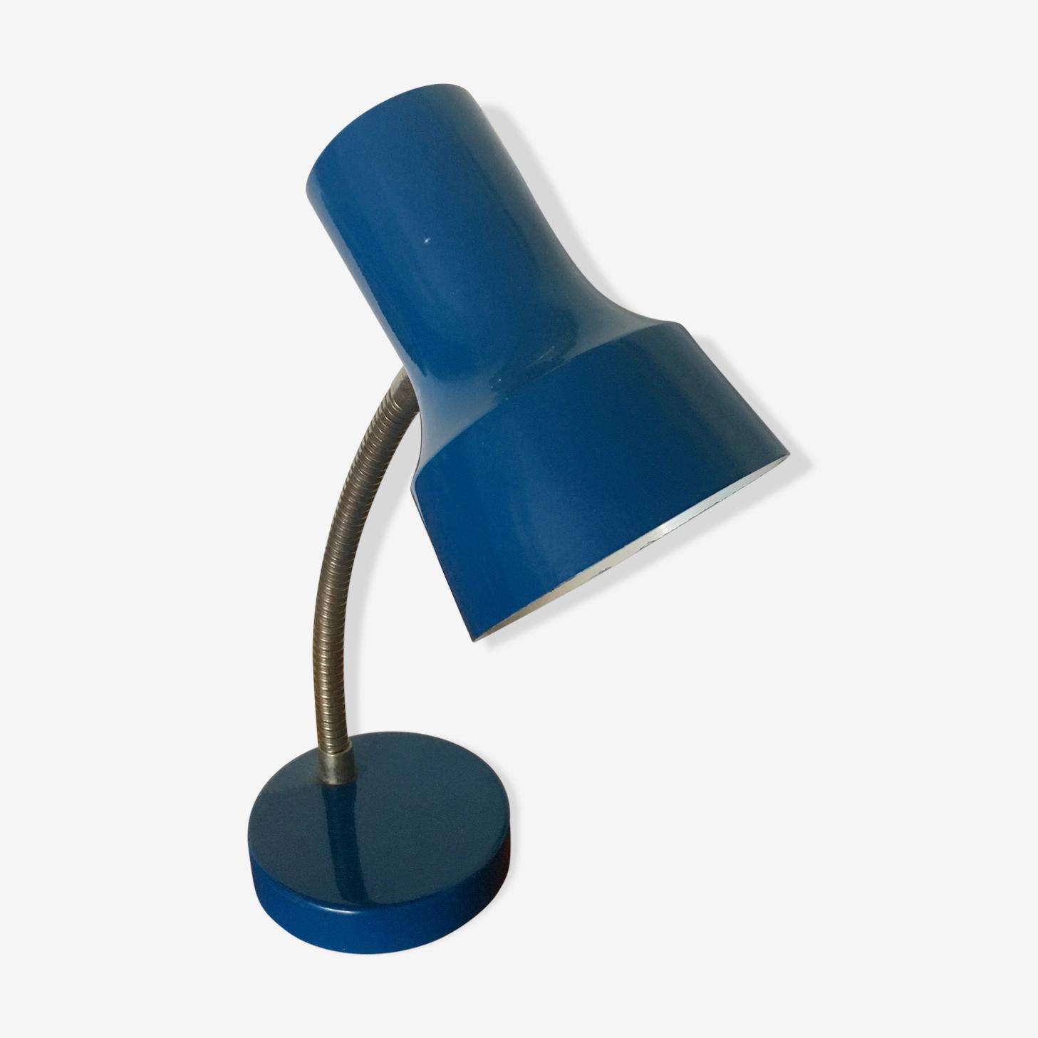 Lampe bureau Veb Narva bleue vintage 1970