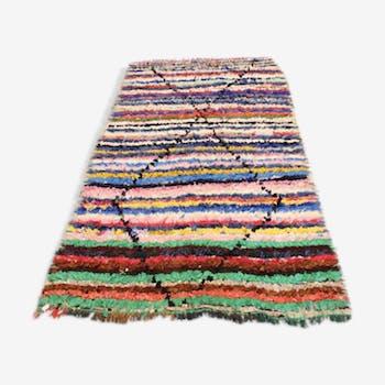 Tapis berbère boucherouite, 253x132 cm