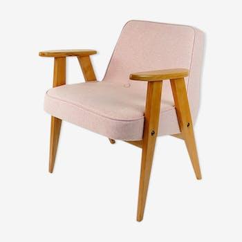 Armchair in pink wool 60