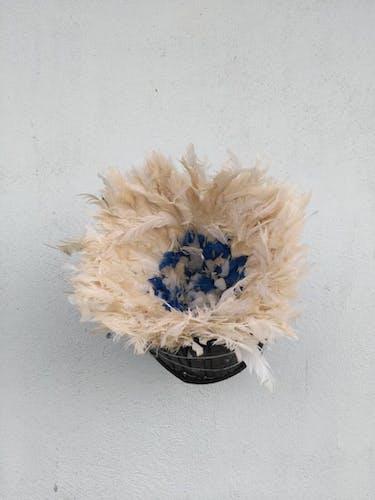 Juju hat multicolore intérieur bleu et contour blanc de 50 cm