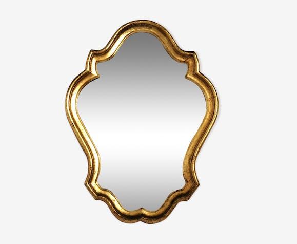 Miroir bois doré 35 x 26 cm