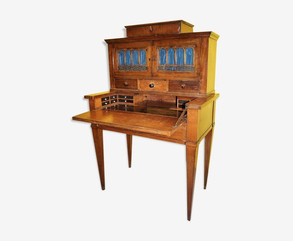 19th century oak secretary with hidden compartments