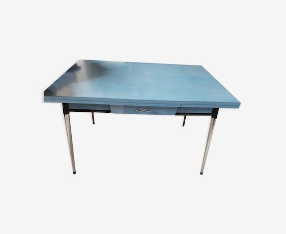 Vintage Formica Table Formica Blue Vintage 6ykfy1wp