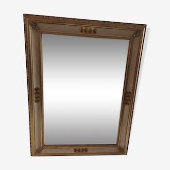 Miroir en bois doré 66x87cm