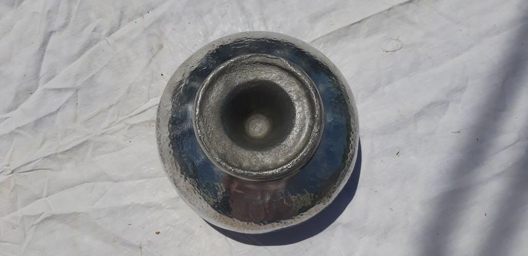 Cendrier vintage aluminium