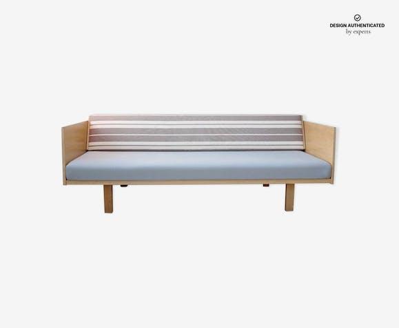 Vintage Hans Wegner Sofa Wood Blue Scandinavian Mql551h
