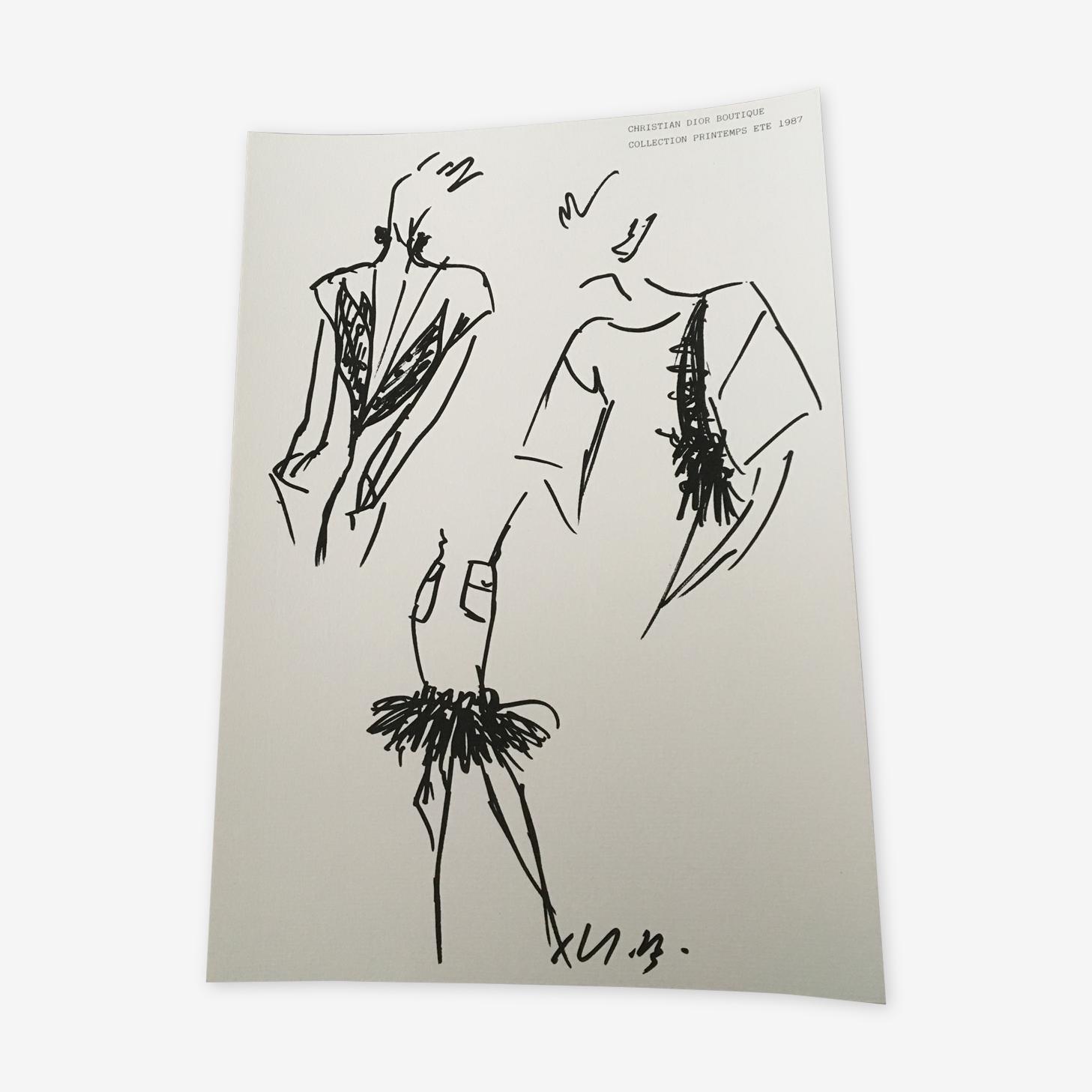Illustration et photographie de mode de presse, Christian Dior fin des années 80