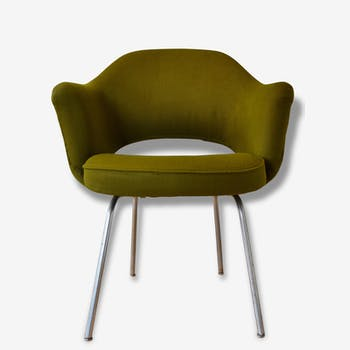 Conference Saarinen Chair, green forest, 1970