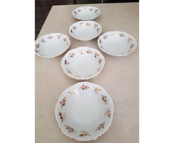 6 assiettes creuses Winterling Bavaria porcelaine - 1970