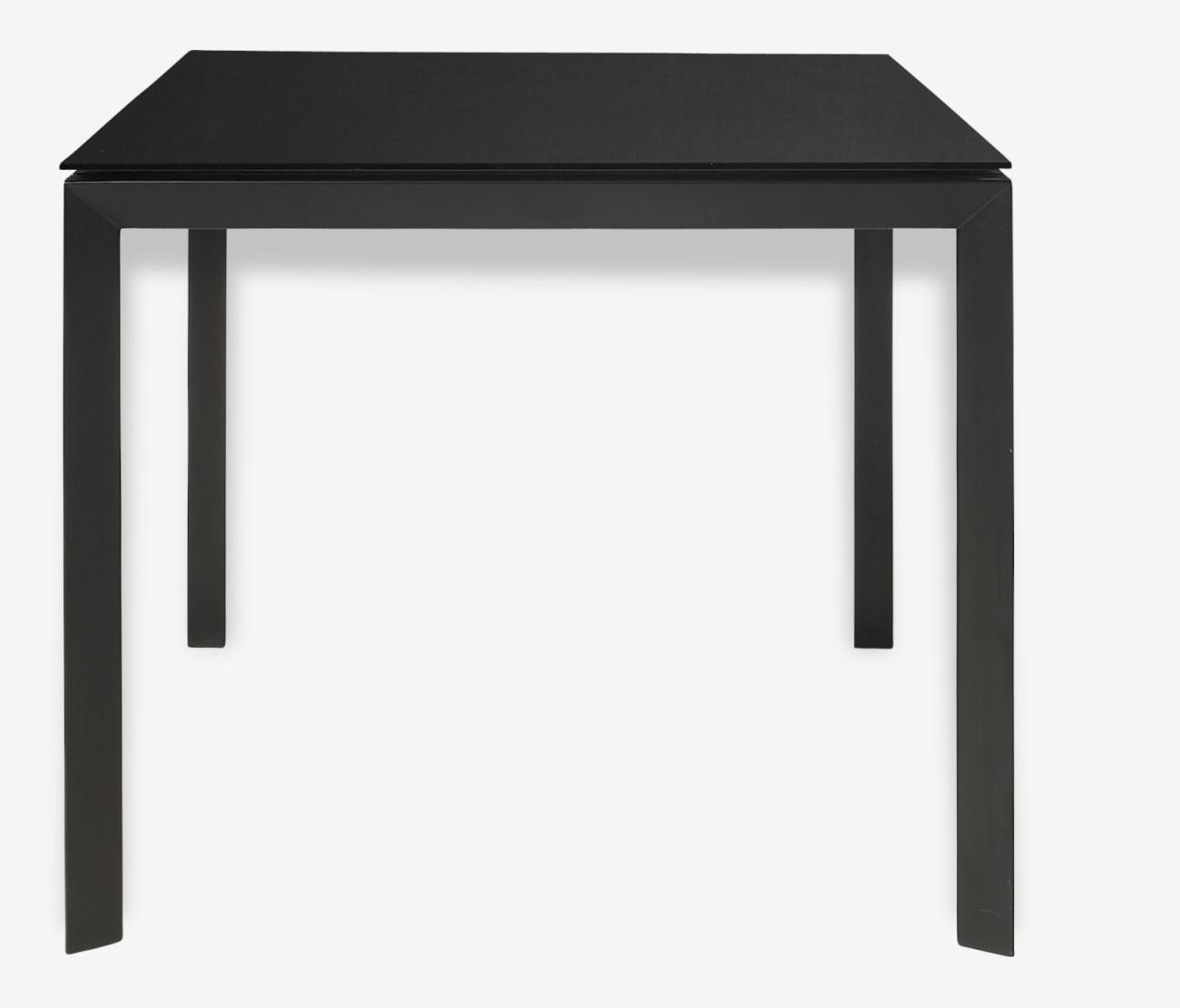 Table A Rallonge En Verre Rio Habitat Verre Et Cristal Noir