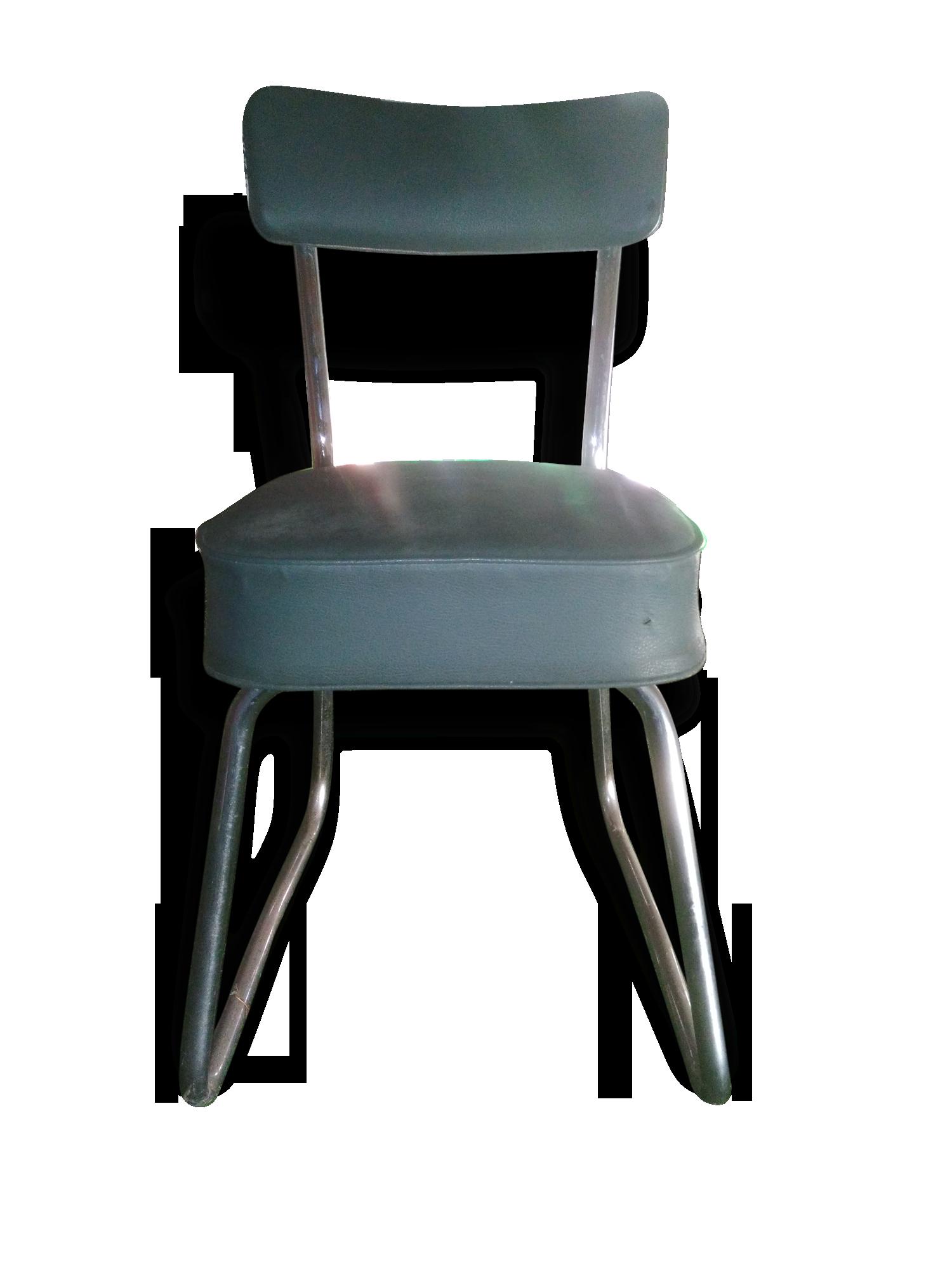 Chaise de bureau industrielle roneo mtal vert industriel
