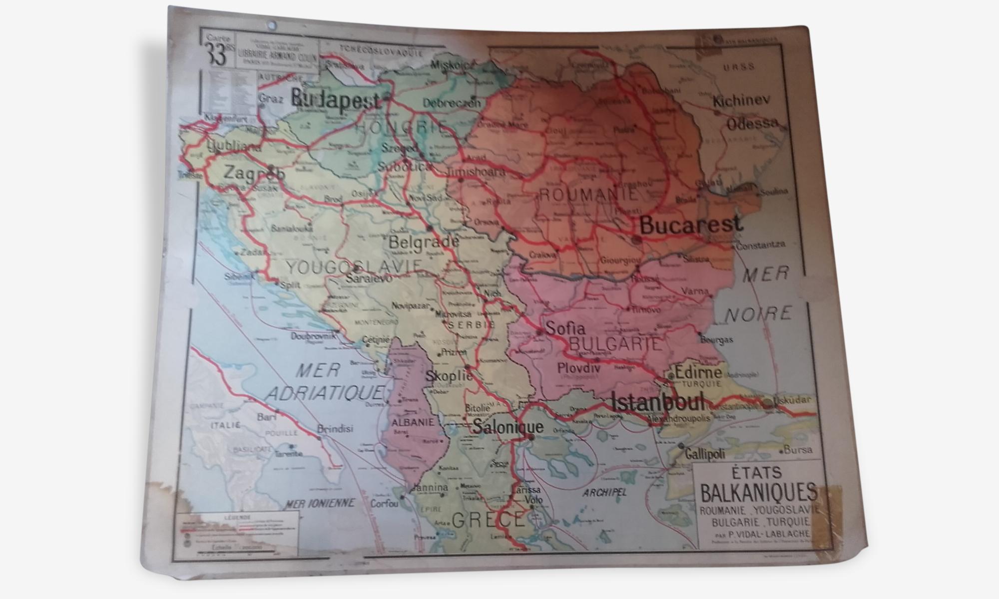 Ancienne affiche de Géographie.