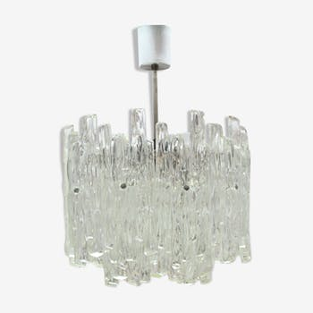 """Ice"" chandelier in Lucite from Kalmar, Austria, 60 's, Plexiglas"