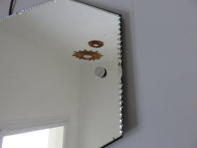 Octagonal mirror bevelled art deco 30/40