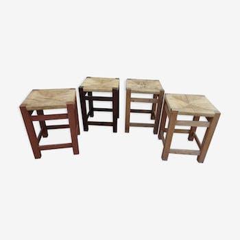 4 vintage rope stool