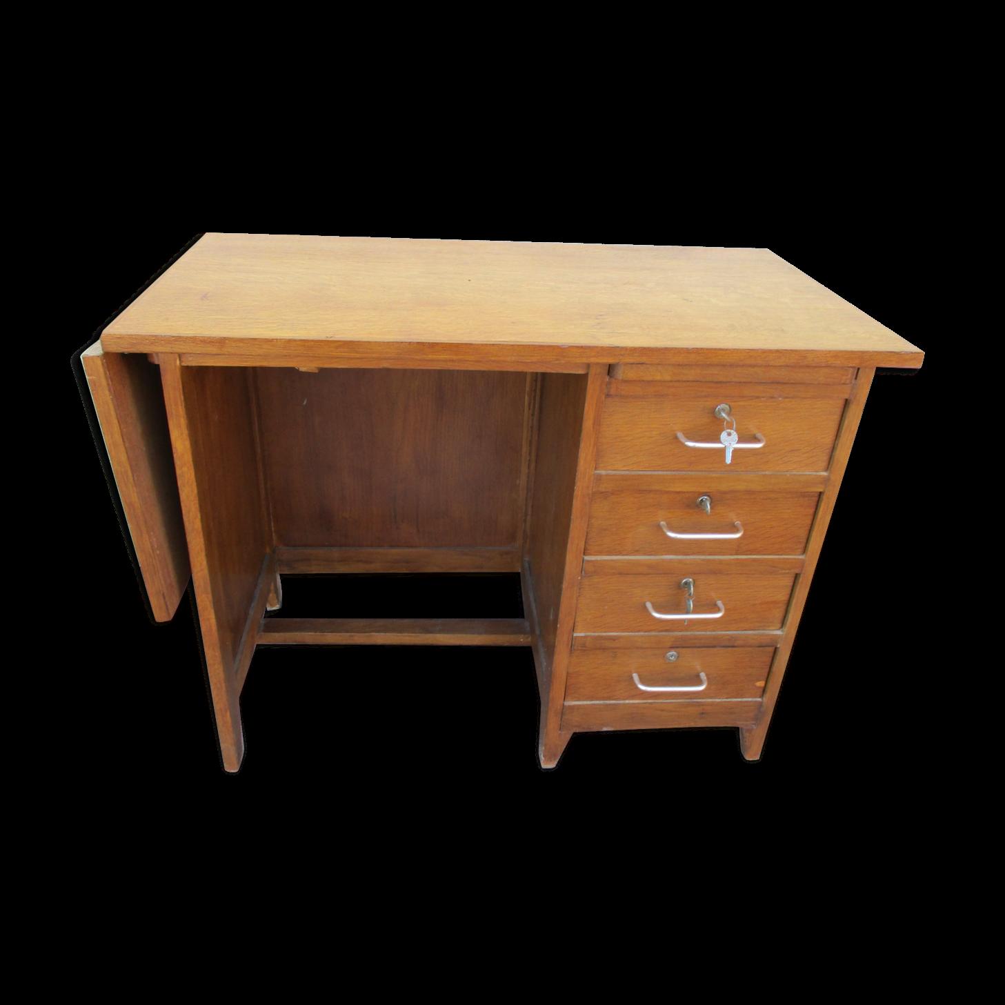 Bureau chenet vintage style anglais avec rallonge with bureau style anglais - Lampe de bureau style anglais ...