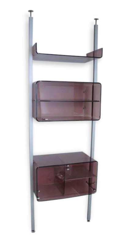 Etag Re En Plexiglas Sol Plafond Vintage 60 70 Plastique  # Etagere Vintage Plexiglas