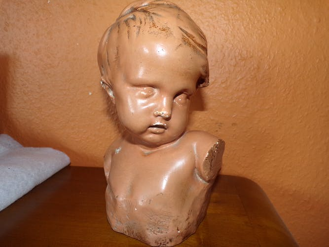 Buste enfant porcelaine