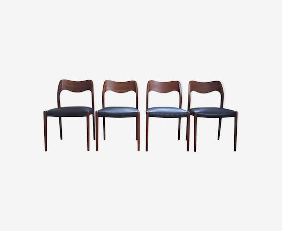 Set 4 chaises O.Moller modèle 71