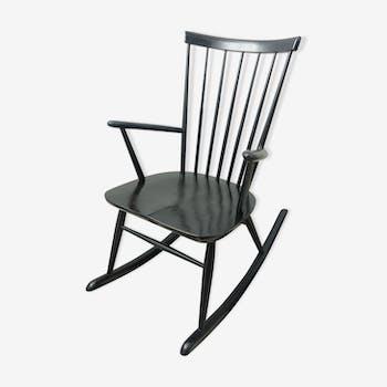 Rocking-chair noir Roland Reiner