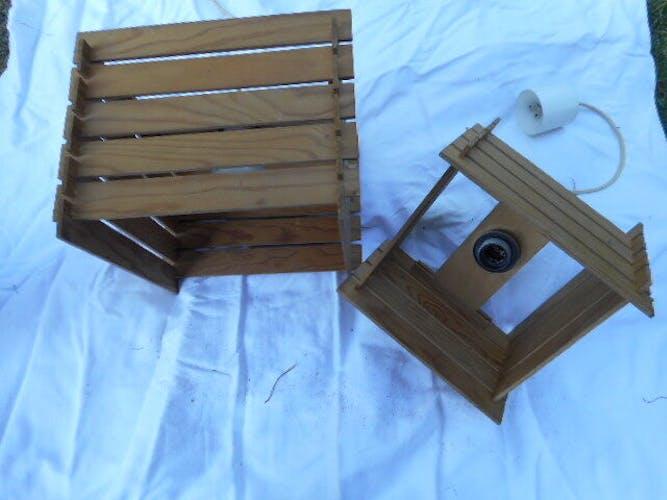 2 suspensions bois scandinaves