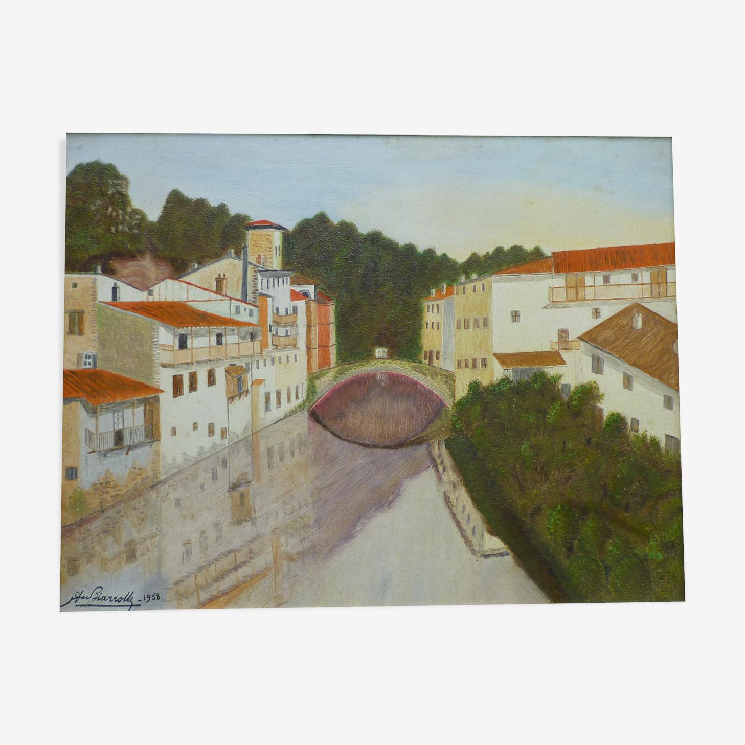 Peinture naïve de Saint Jean pied de Port