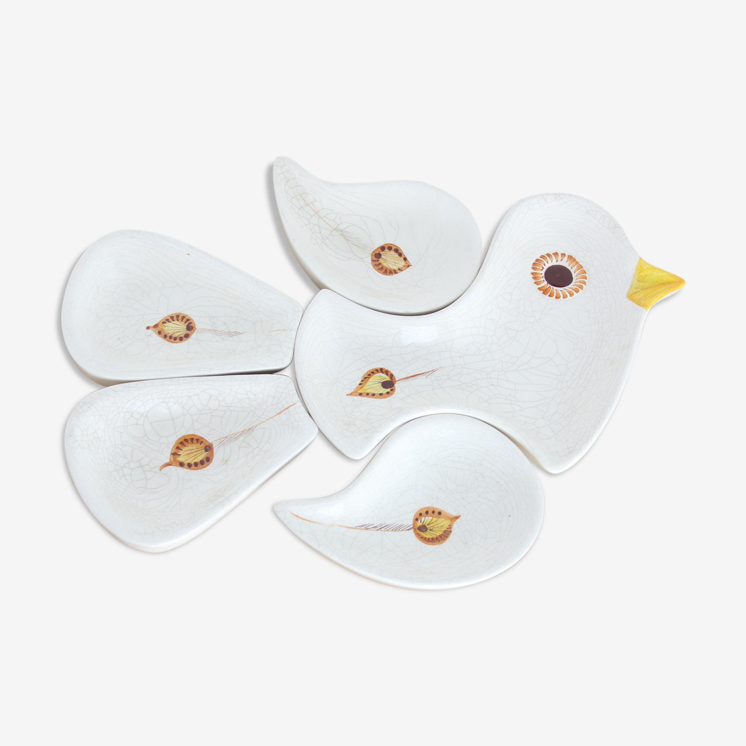 Aperitifs ceramic bird cups
