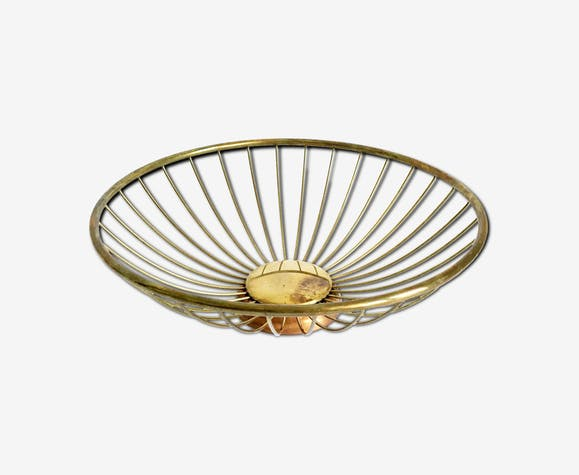 Brass fruit bowl by Erich Kolbenheyer, 1950