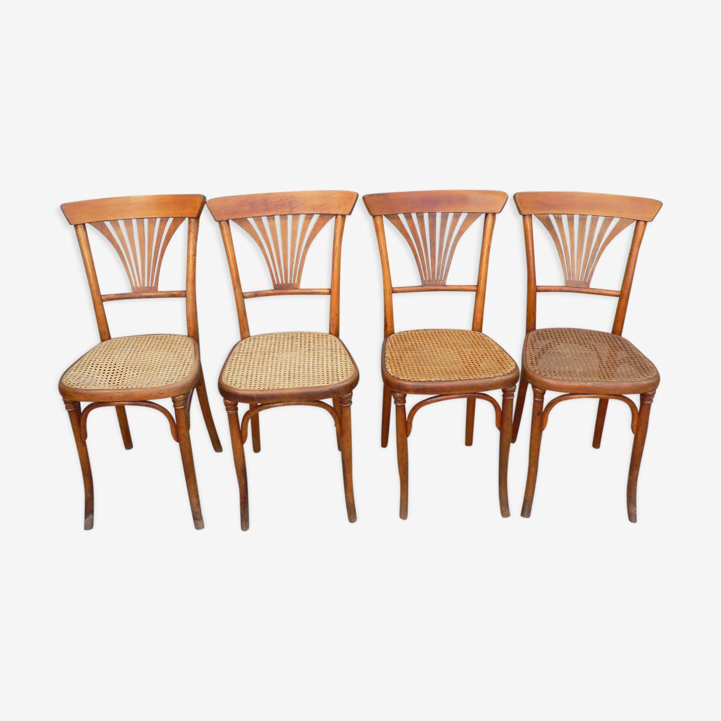 Série de 4 chaises bistrot Hofmann