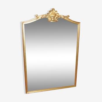 Miroir style louis XV en bois doré 120x80cm
