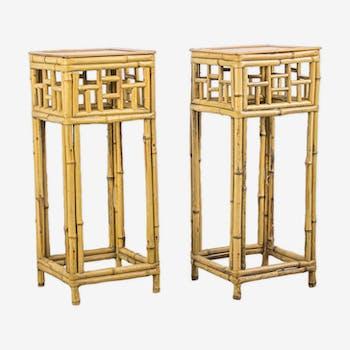 Ensemble de 2 consoles en bambou