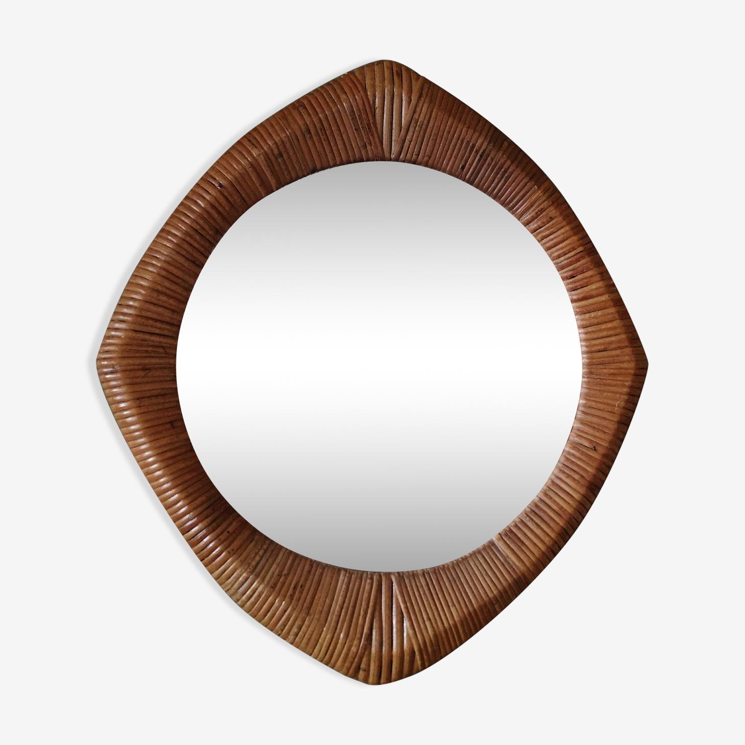 Miroir en rotin 52 x 45 cm