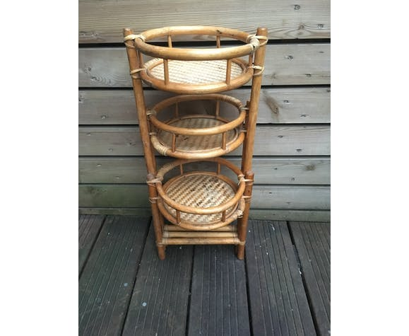 Plants holder flexible bamboo and rattan
