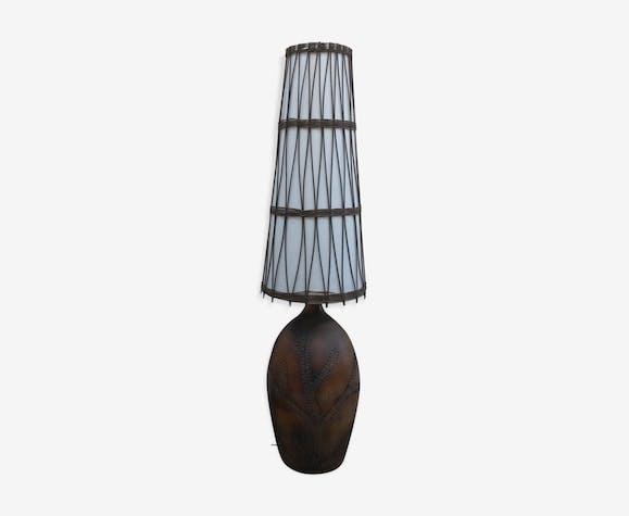 Vallauris En Parquet Lampe Céramique Céramiqueporcelaine 1960 De 3ARj4q5L