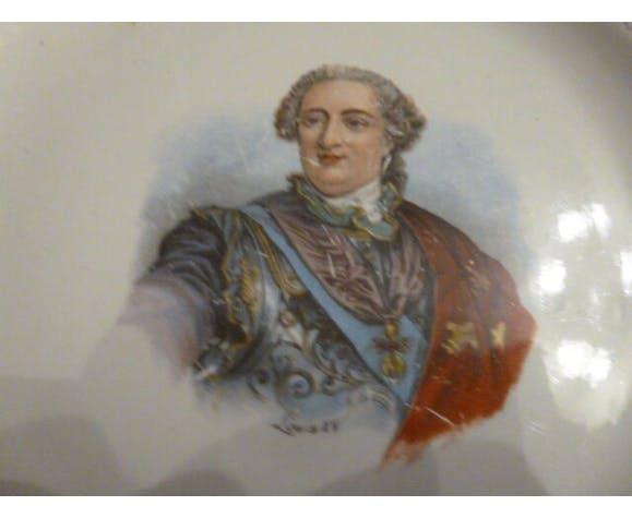 Assiette avec Louis XV
