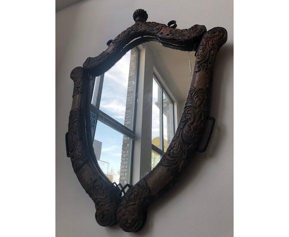 Miroir industriel en bois 55x75cm