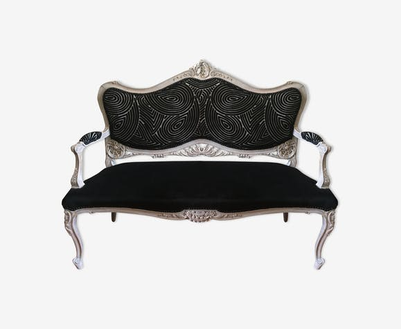 canap ou banquette style louis xv bois mat riau blanc classique n540enh. Black Bedroom Furniture Sets. Home Design Ideas