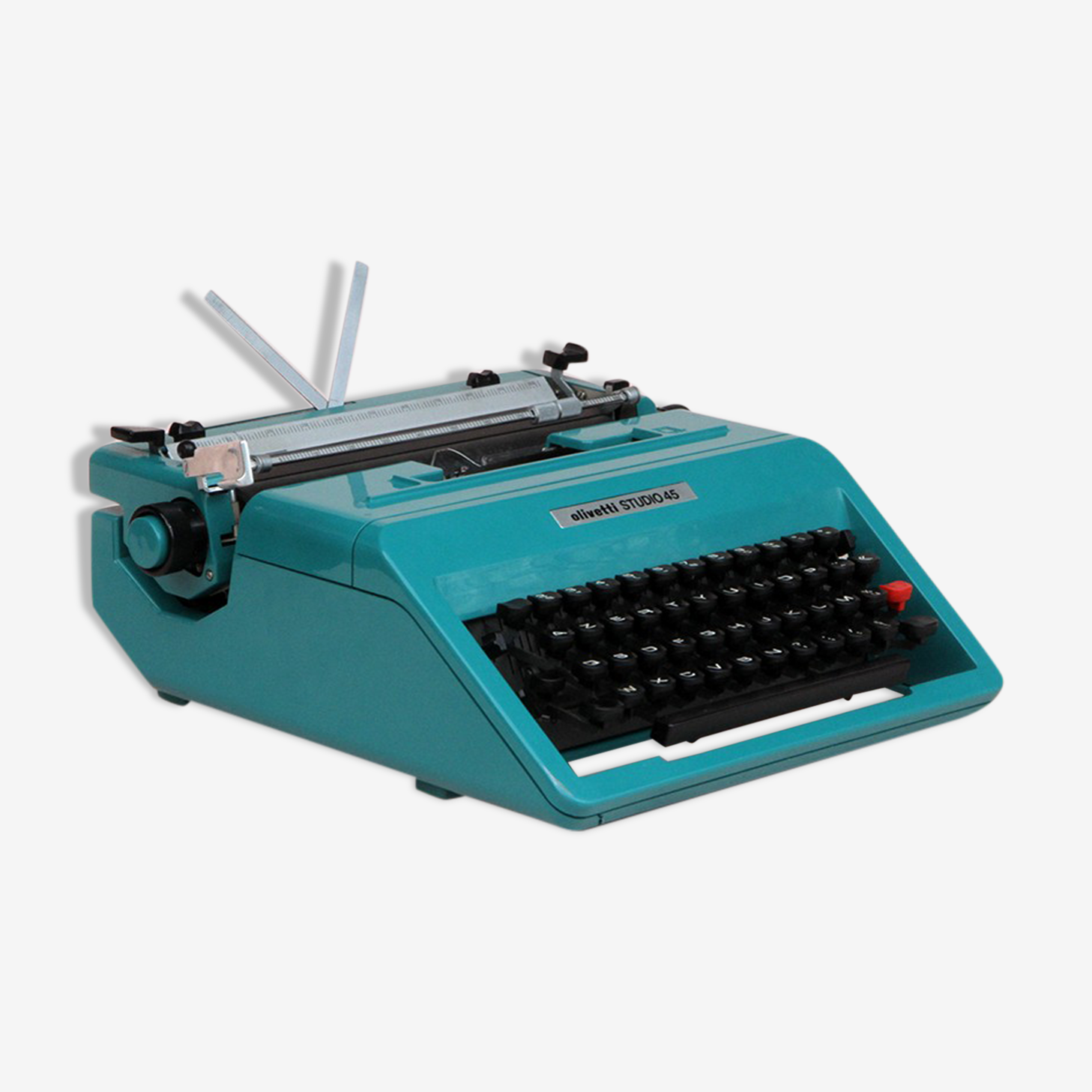 Machine à écrire Olivetti studio 45 bleu en coffret