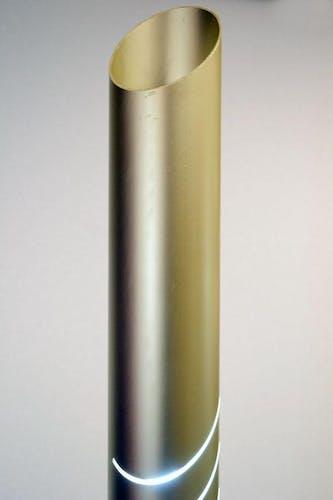Italian Tronconi Aluminum and Marble Floor Lamp, 1970