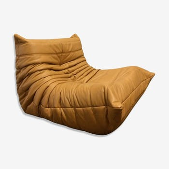 "Driver ""Togo"" cognac leather by Michel Ducaroy for Ligne Roset"