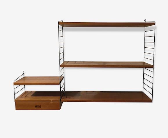 Bibliothèque String Tiroir Vintage Wood Wooden Vintage 34282
