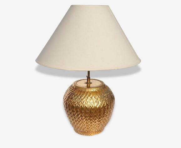 En Laiton Lampe Ancienne Et Céramique CéramiquePorcelaine 435jRLA
