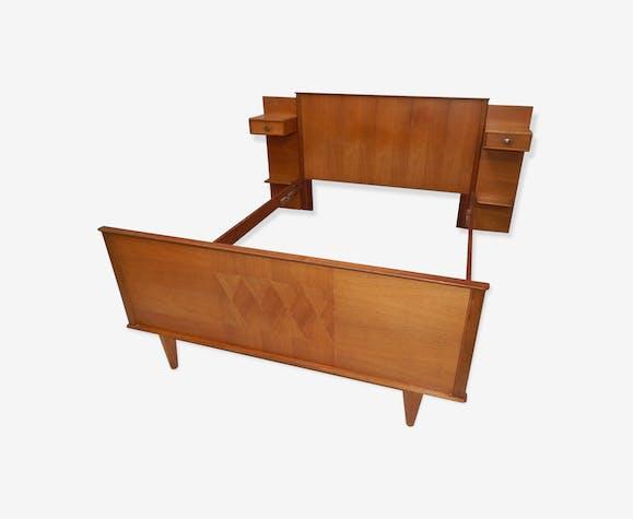 t te de lit 140x190 chevet suspendu vintage ann es 50. Black Bedroom Furniture Sets. Home Design Ideas