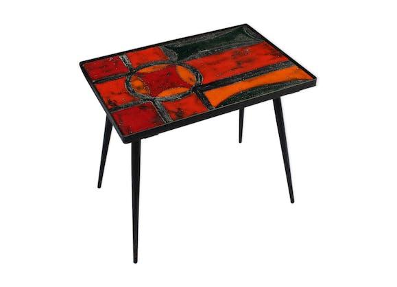 table d 39 appoint des fr res cloutier c ramique porcelaine fa ence rouge design s7zljnp. Black Bedroom Furniture Sets. Home Design Ideas