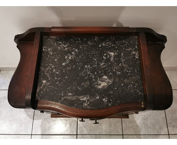 Bedside table with marble tablet
