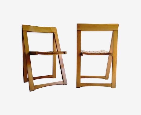 Chaises pliantes par Aldo Jacober pour Alberto Bazzani années 1960