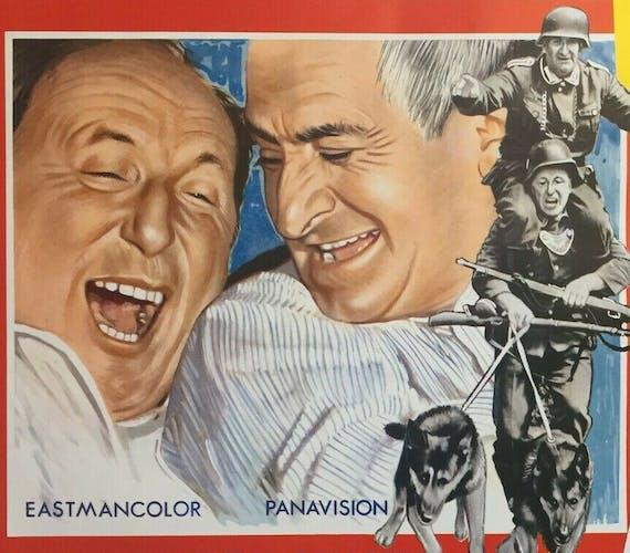 """Affiche cinéma """"La Grande Vadrouille"""" Louis de Funes, Bourvil 37x55cm 1966"""