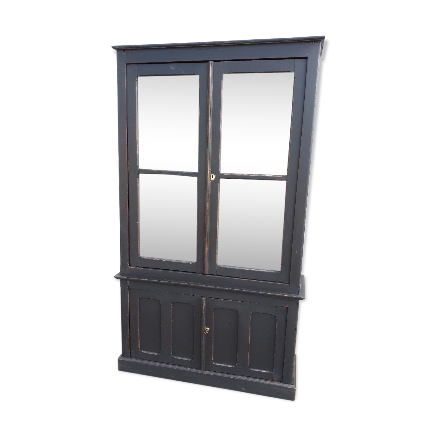 Vitrine meuble great vitrine scandinave bois with vitrine - Patine noire meuble ...