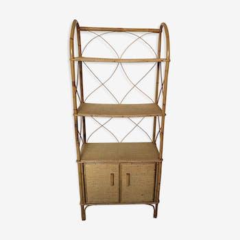 Bamboo & wicker shelf