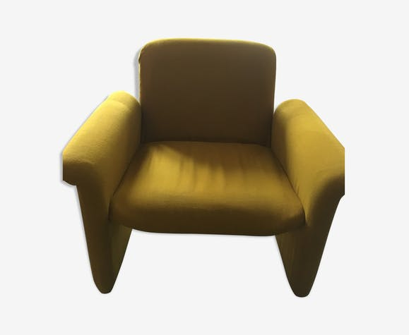 Fauteuil Vintage Année Moutarde Fabric Yellow Vintage - Fauteuil vintage moutarde